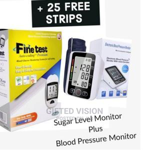 Blood Glucose Machine With 25 Free Strips + BP Monitor | Medical Supplies & Equipment for sale in Lagos State, Surulere