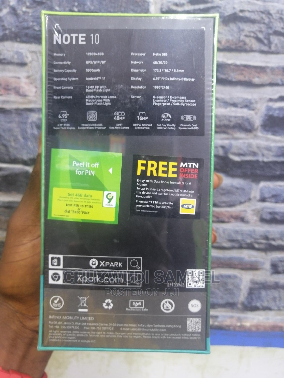 New Infinix Note 10 128 GB Black | Mobile Phones for sale in Wuse 2, Abuja (FCT) State, Nigeria