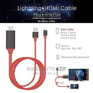 Lightning to Hdmi Hdtv Tv Adapter Digital Av Cable. | Accessories for Mobile Phones & Tablets for sale in Lagos State, Ikeja