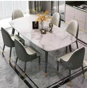 Top Class Marble Dining Table by 6   Furniture for sale in Lagos State, Ajah