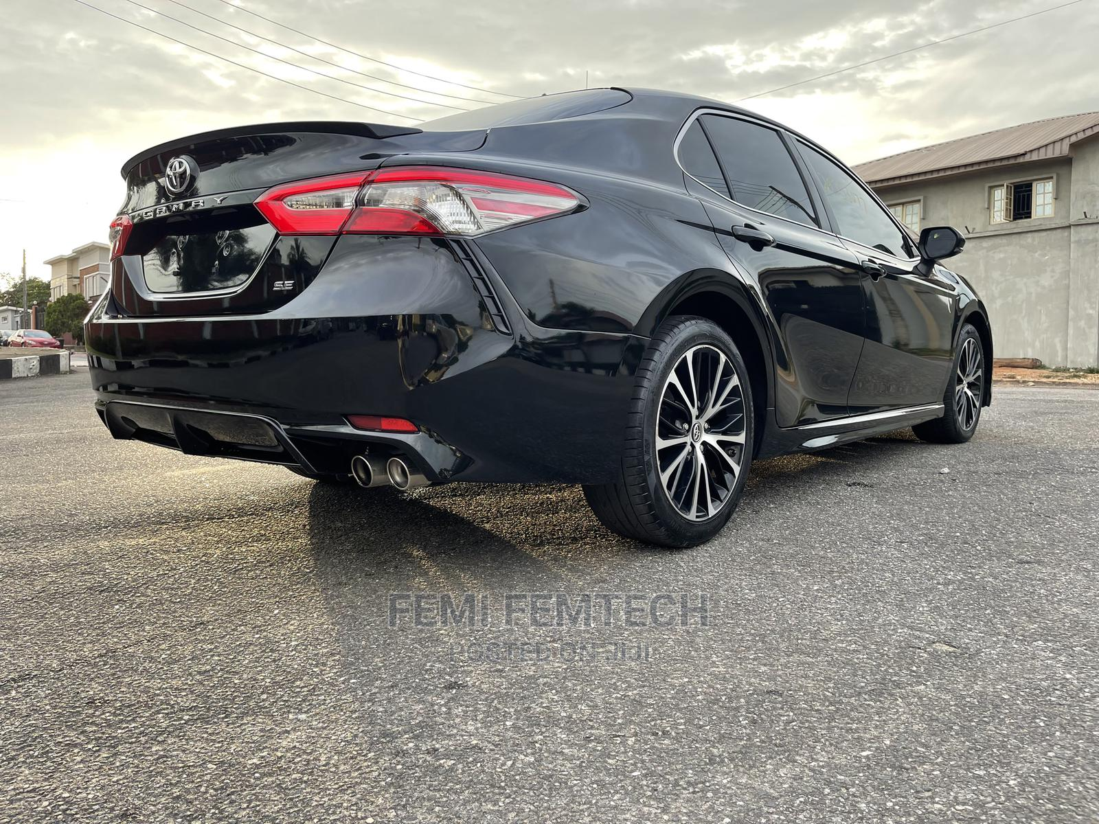 Toyota Camry 2018 SE FWD (2.5L 4cyl 8AM) Black   Cars for sale in Ikeja, Lagos State, Nigeria