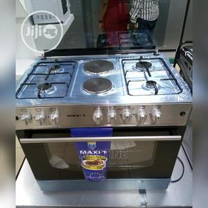 Brand New MAXI(MAXI60*90)(4+2)INOX, Standing Cooker, Silver | Kitchen Appliances for sale in Lagos State, Ojo