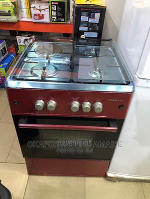 Brand New MAXI(60 60(3+1)Red,Standing Gas Cooker,Grill Oven | Kitchen Appliances for sale in Lagos State, Ojo