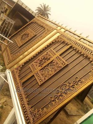 Metal Iron Gate With 3mm by 4×4 Square Pipe Iron | Other Repair & Construction Items for sale in Lagos State, Ikeja
