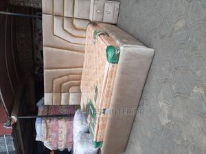 6/6 Padded Upholstery Bed With Imported Orthopedic Mattress | Furniture for sale in Lagos State, Ojo