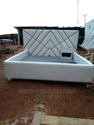6 by 6 Quality Bed Frame With a Bed Side   Furniture for sale in Lagos State, Ikeja