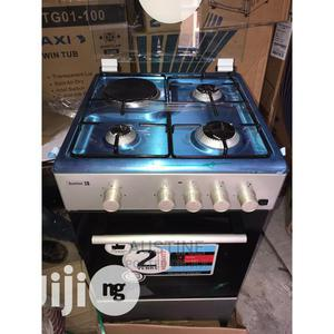 Brand New SCANFROST(3+1)4borner, Standing Gas Cooker Silver | Kitchen Appliances for sale in Lagos State, Ojo