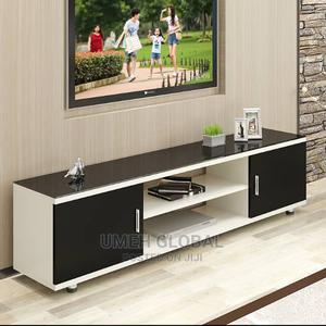 Standard Tv Shelve With Glass Ontop   Furniture for sale in Lagos State, Ikeja