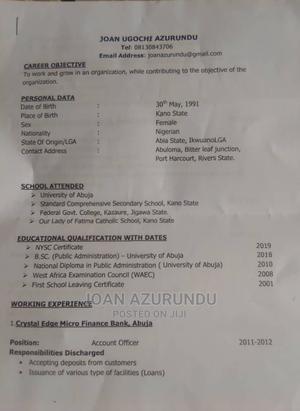 Office CV | Management CVs for sale in Rivers State, Port-Harcourt