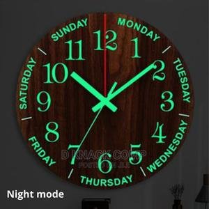 Luminous Wall Clock Wooden Ticktock Clock | Home Accessories for sale in Lagos State, Surulere
