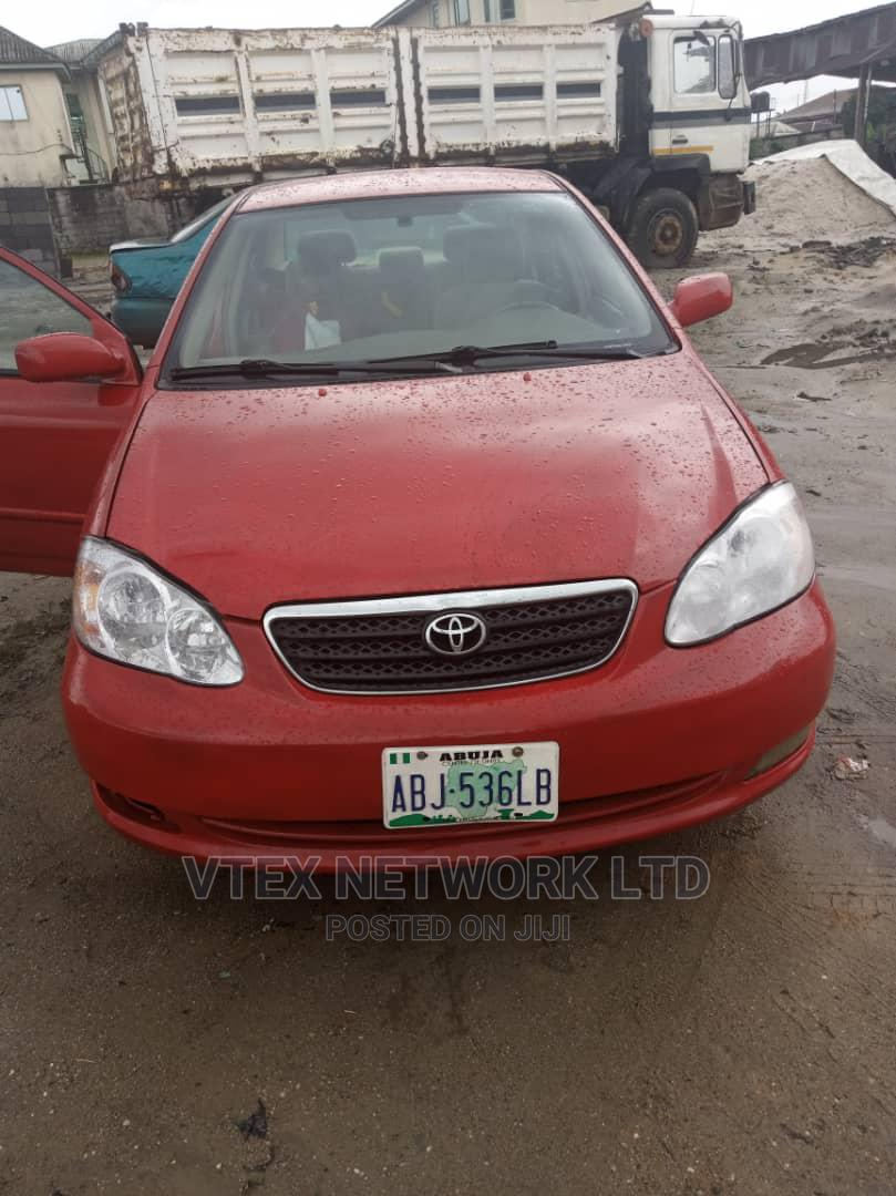 Toyota Corolla 2005 LE Red | Cars for sale in Port-Harcourt, Rivers State, Nigeria