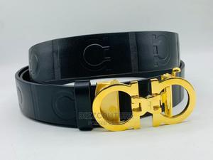 High Quality FERRAGAMO Black Leather Belt Available for Sale   Clothing Accessories for sale in Lagos State, Ikoyi