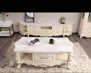 Marble TV Stand With Center Table.   Furniture for sale in Lagos State, Lagos Island (Eko)
