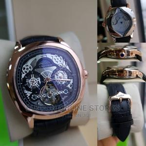 Cartier Leather Wrist Watch   Watches for sale in Lagos State, Surulere