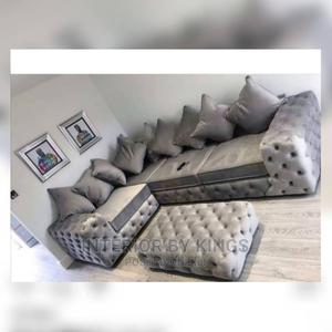 U-Shaped Fabric Sofa With an Ottoman.Tufted to Perfection   Furniture for sale in Lagos State, Magodo