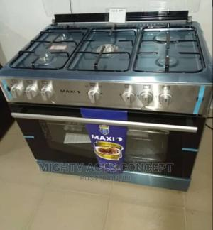 MAXI 5 Burners Standing Gas Cooker All Gas With Oven Grill | Kitchen Appliances for sale in Lagos State, Lekki