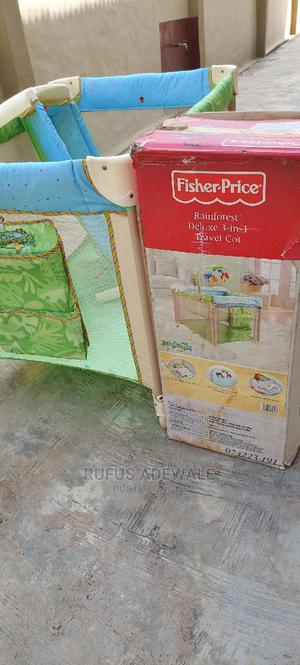 Fisher Price Rainforest Deluxe 3-In-1 Travel Cot | Children's Furniture for sale in Lagos State, Ipaja