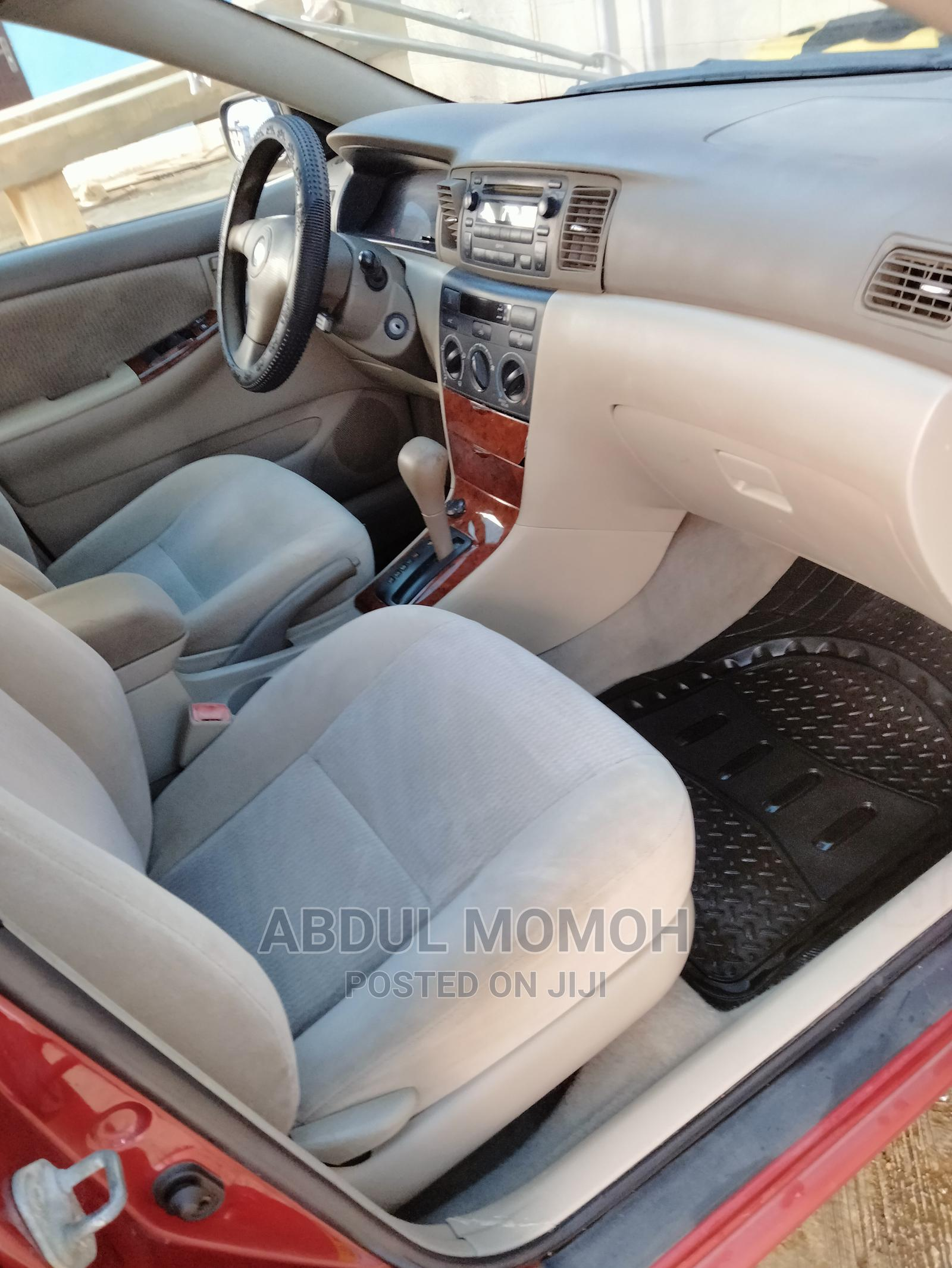 Archive: Toyota Corolla 2005 160i GL Limited Edition Red
