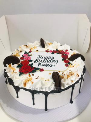 """8"""" Whipped Cream Cake to Celebrate Someone Special   Party, Catering & Event Services for sale in Rivers State, Port-Harcourt"""