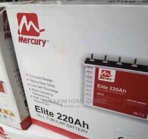 Quality Standard Elite Mecury Tubular Battery 12v220ah | Solar Energy for sale in Lagos State, Ojo