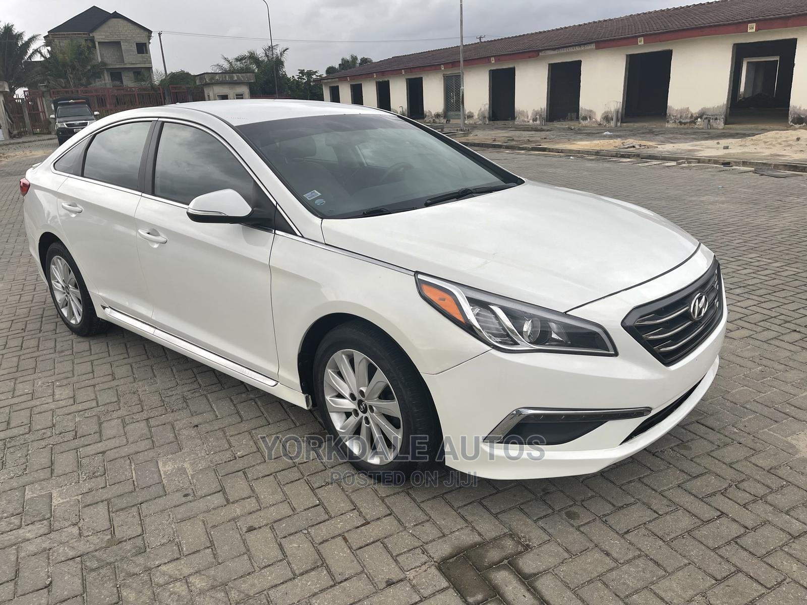 Hyundai Sonata 2015 White   Cars for sale in Ajah, Lagos State, Nigeria