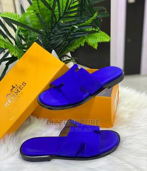 High Quality Blue Leather HERMES Slippers Available for Sale | Shoes for sale in Abuja (FCT) State, Wuse 2