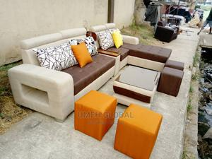 Quality L Shape With Ottoman and Center Table   Furniture for sale in Lagos State, Ikeja