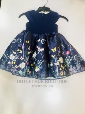 Navy Blue Girls Flower Gown | Children's Clothing for sale in Lagos State, Ikorodu