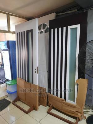 Wooden Door With Glass(840) | Doors for sale in Lagos State, Surulere