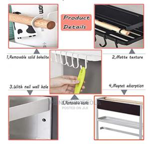 3 Tier Metal Kitchen Rack Magnetic Fridge Organizer | Home Accessories for sale in Lagos State, Lagos Island (Eko)