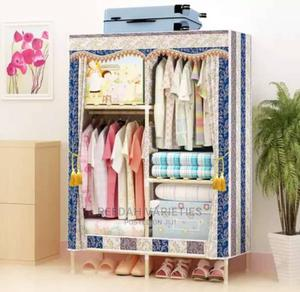 Two Columns Mobile Wooden Wadrobe | Furniture for sale in Lagos State, Alimosho