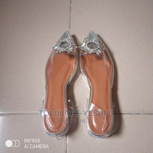 Transparent Jelly Sling Flat Shoe With Silver Crest   Shoes for sale in Lagos State, Ipaja