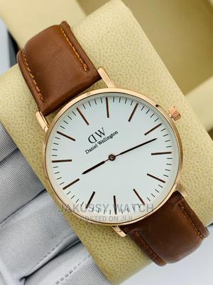 Daniel Wellington Leather Wrist Watch High Quality Warranty | Watches for sale in Lagos State, Lagos Island (Eko)