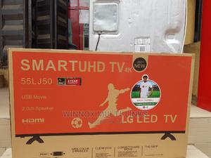 Lg 55 Inches Smart Tv (Wifi LAN Internet Connection)   TV & DVD Equipment for sale in Lagos State, Ojota