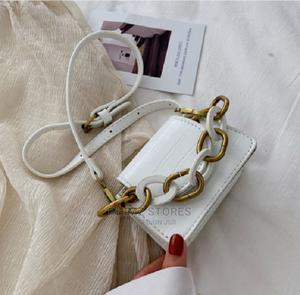 Retro Cute Snake Leather Handbag – White | Bags for sale in Lagos State, Ipaja