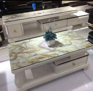 Imported Executive Glass Top TV Stand With Table | Furniture for sale in Lagos State, Victoria Island