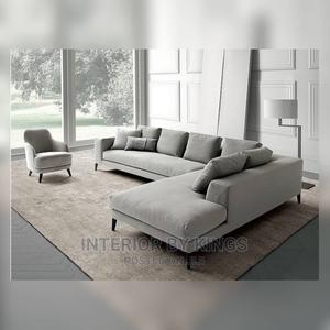 L-Shaped Fabric Sofa With an Arm Chair Can Come in Colors   Furniture for sale in Lagos State, Ajah