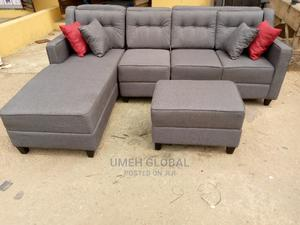 Quality L Shape With Ottoman   Furniture for sale in Lagos State, Ikeja