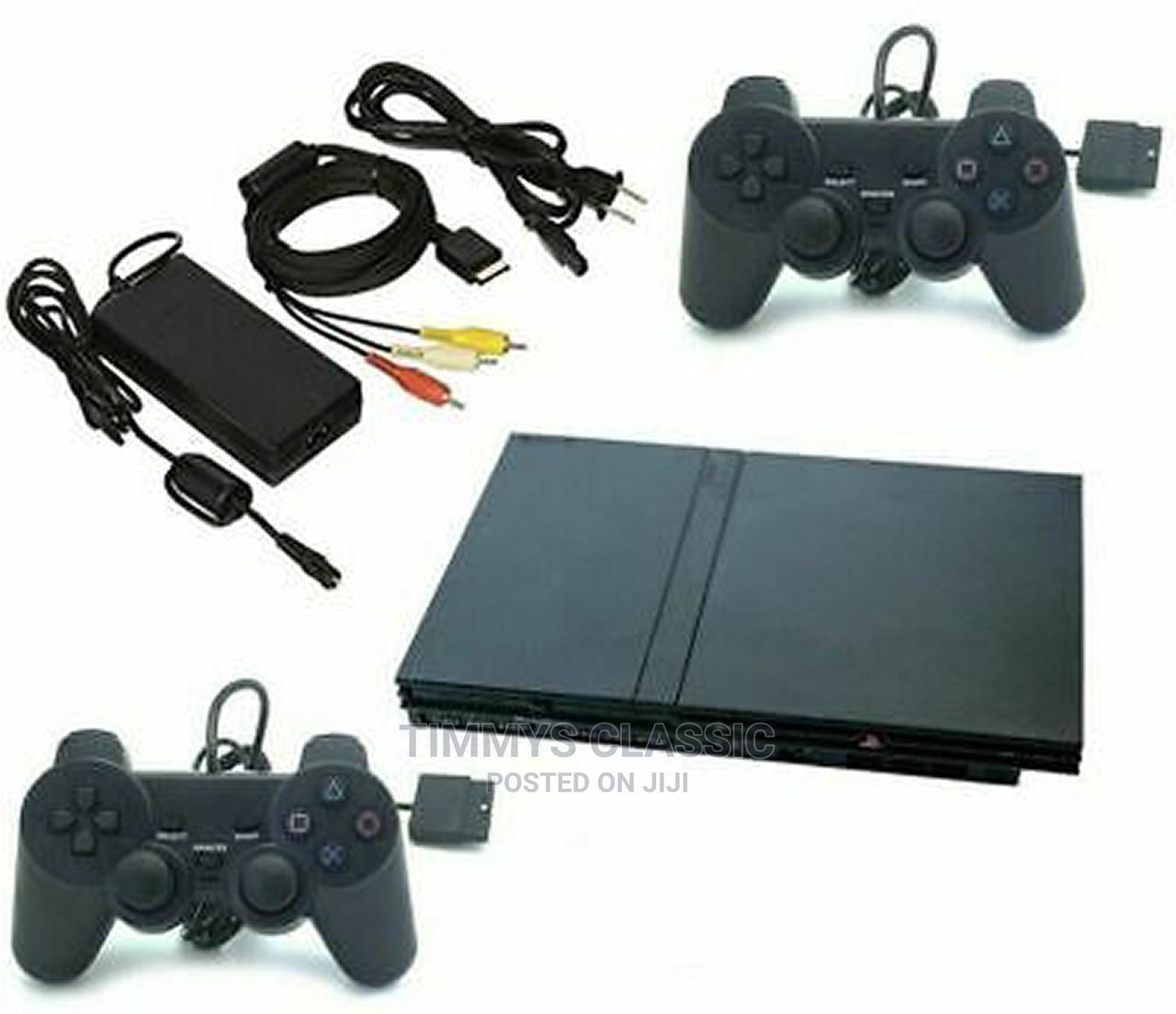 Archive: Sony Playstation 2 PS2 SLIM Console Bundle TWO CONTROLLERS