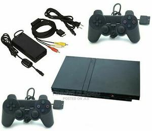 Sony Playstation 2 PS2 SLIM Console Bundle TWO CONTROLLERS | Video Game Consoles for sale in Lagos State, Ikeja