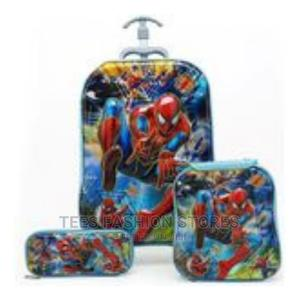 3-In-1 Boys 3D Trolley School Bag+Lunch Box+Pencil Box   Babies & Kids Accessories for sale in Lagos State, Amuwo-Odofin