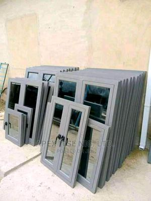 Windows With Grey Reflective Glass | Windows for sale in Abuja (FCT) State, Apo District