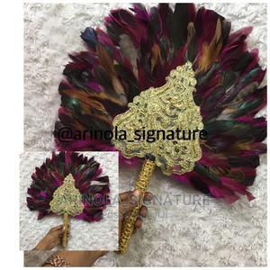 Ostrich Feather Hand Fan | Wedding Wear & Accessories for sale in Lagos State, Lagos Island (Eko)