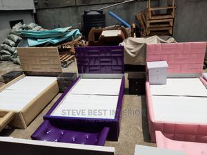 4by6 Leather Padded Bed Frame   Furniture for sale in Lagos State, Ojo