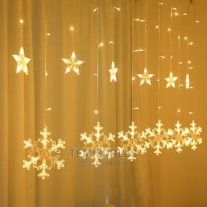 Christmas LED Curtain Snowflakes Star Light | Home Accessories for sale in Lagos State, Victoria Island