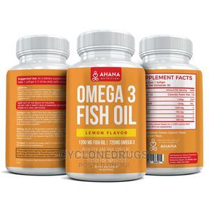 Ahana Nutrition Ahananutrition Omega-3 Fish Oil 60 Cap Lemon | Vitamins & Supplements for sale in Lagos State, Amuwo-Odofin