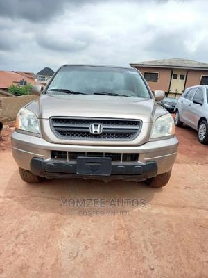 Honda Pilot 2004 EX-L 4x4 (3.5L 6cyl 5A) Gold | Cars for sale in Ogun State, Abeokuta South
