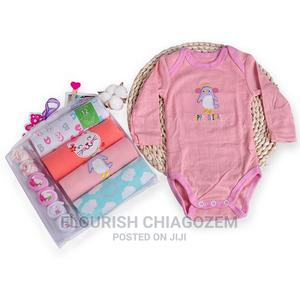 New Born 4 Pcs Bodysuits With 3 Pair Socks   Children's Clothing for sale in Lagos State, Ajah