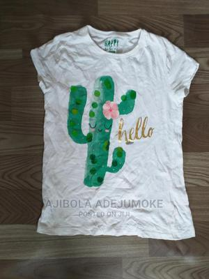 F F Girl Super Cute Print Cacti T-Shirt 10-11 Years | Children's Clothing for sale in Lagos State, Yaba