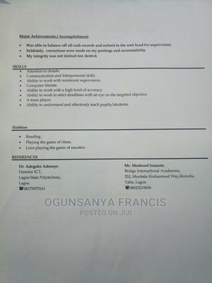Clerical Administrative CV   Clerical & Administrative CVs for sale in Lagos State, Surulere